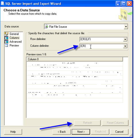 Import UTF-8 data into Microsoft SQL Server 2008 | Sherry's BI Corner