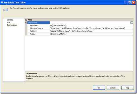 SSIS – Using system variables in Send Mail Task (2/2)