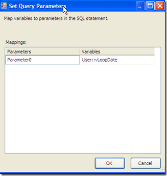 SSIS – Pass a variable to a OLE DB Source in a Data Flow (4/5)