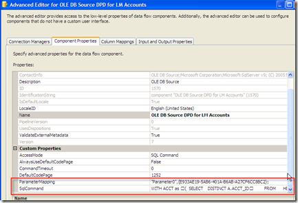 SSIS – Pass a variable to a OLE DB Source in a Data Flow (5/5)