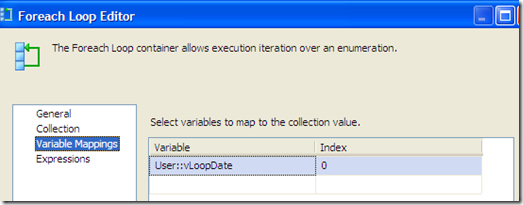 "SSIS – Use ""Foreach Loop Container"" and pass a variable to a OLE DB Source in a Data Flow (2/3)"